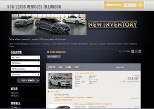Lexus of London Inventory Listings