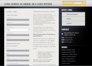 Lexus of London Service